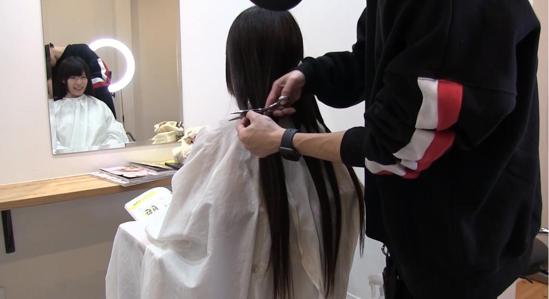 髪の毛カット